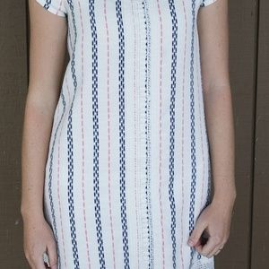 Xhilaration Dresses - Striped Mini Dress with Lace